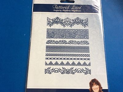 Tattered Lace Painted Rose 8 Border Dies Free P&p, Rrp £24.99