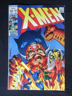 X-Men #51 MARVEL 1968 - HIGHER GRADE - Jim Steranko, Cyclops, Angel, Beast!!