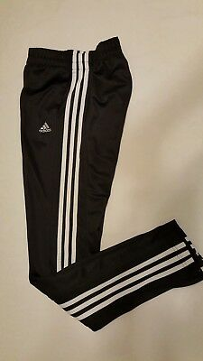 Womens Adidas Fitted Running Track Pants Size Extra Small (4-6) Sweatpants black