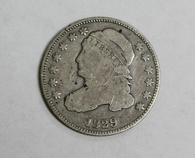 1829 Capped Bust Dime 10 Cents US Silver - Full Liberty Coin * Old US 10 Cent