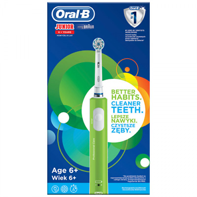 Cepillo Dental Eléctrico Oral-B D16 Infantil Junior Verde