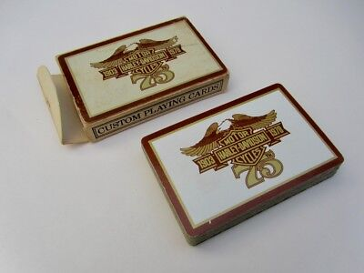 RARE! Vintage 1978 Harley-Davidson 75th Anniversary Custom Playing Cards NICE!