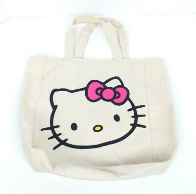 "Hello Kitty Canvas Tote Bag 10.5"" wide x 11.5"" tall x 4.5"" deep"