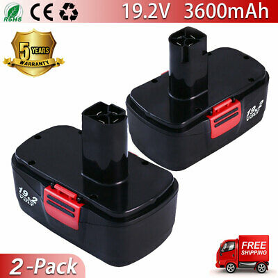 2Pac 19.2V 3.6Ah Battery Replace For Craftsman C3 19.2 Volt 11375 130279005 Dril
