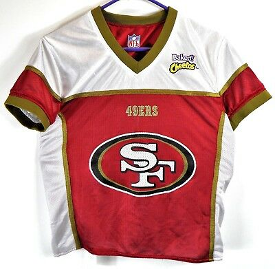9881d5e3fc6 SAN FRANCISCO 49ers NFL FLAG FOOTBALL BAKED CHEETOS JERSEY SIZE YOUTH MEDIUM