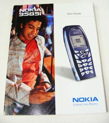 Never Used!! Nokia 3585i Cell Phone User Guide Instruction Manual ONLY!
