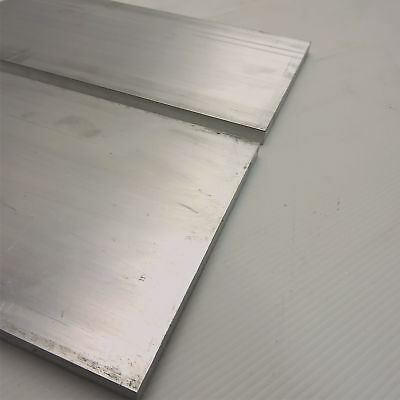 ".5"" x 6"" Aluminum 6061 FLAT BAR 15.25"" Long new mill stock QTY 2 sku K516"