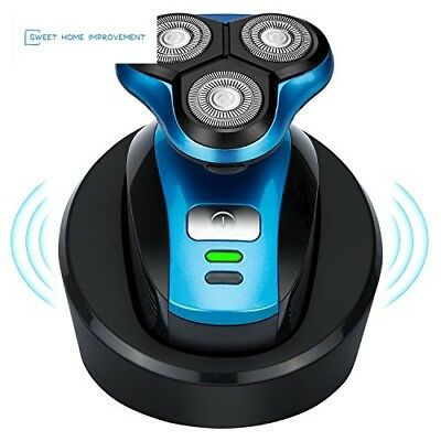 Wireless rechargeable electric shaver, wet and dry double shaving, body waterpro