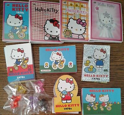 HELLO KITTY'S 40TH ANNIVERSARY Complete Card Set with Figures, Sub Sets + BONUS