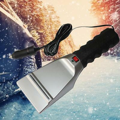 Electric Heated Car Ice Scraper Snow Removal Shovel Windshield Glass Clean Tools
