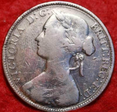 1861 Great Britain 1 Penny Foreign Coin