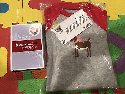 American Girl Festive Reindeer Pajamas For Doll And Girls Size 8