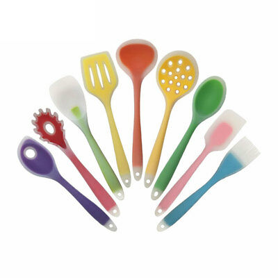 Food-grade Silicone Spoon Kitchen Tool Cooking Utensils Mixing Slotted Spoon