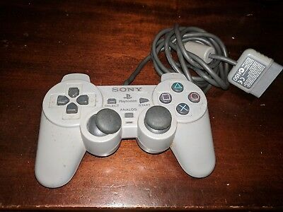 Official OEM Sony Playstation 1 PS1 Dual Shock Controller Gray SCPH-1200 Analog
