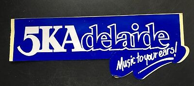 5KA ADELAIDE 'MUSIC TO YOUR EARS Vintage 1980's CAR BUMPER Sticker