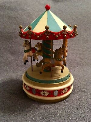 Enesco Carousel Merry Go Round - Plays Musical Waltz - Vintage 1980