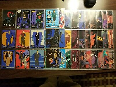 1993 Batman the Animated Series Card Set 100 cards Topps