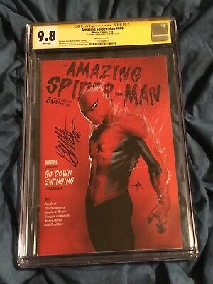 Cgc Ss 9.8~Amazing Spider-Man #800~1:25 Variant~Signed By Gabriele Dell'Otto