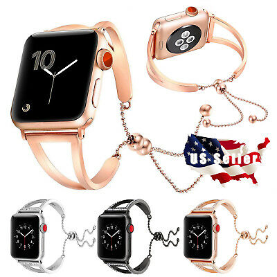 For iWatch iphon Watch 4 Series 1/2/3/4 38/40/42/44mm Stainless Steel Strap Band