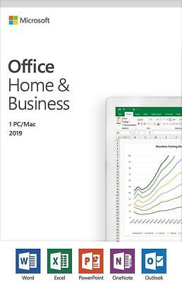 NEW Microsoft Office 2019 Home and Business PC/Mac Retail Pack
