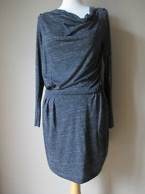 bee2f677b9c0 TBE ! SUPERBE ROBE Grise manches longues IKKS Taille 38 - EUR 20