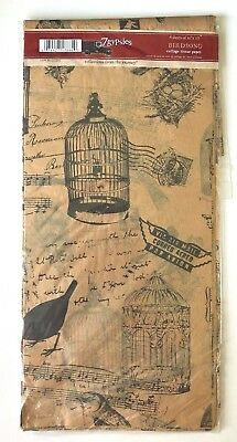 """7 GYPSIES """"BIRDSONG"""" COLLAGE TISSUE PAPER (4 SHEETS 20"""" x 30"""")"""