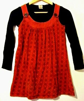 Faded Glory Girls Red Long Sleeved Dress Size Large 10-12