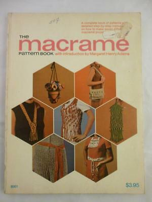 Vtg The Macrame Pattern Book Necklace Belt Purse Vest Plant Hanger Educraft