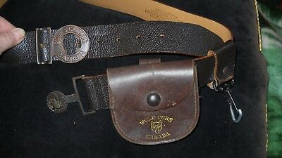 Vintage Boy Scouts of Canada Belt and Buckle and POUCH