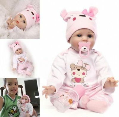 Realistic 22'' Soft Vinyl Reborn Baby Real Life Silicone Newborn Doll Toy Gifts