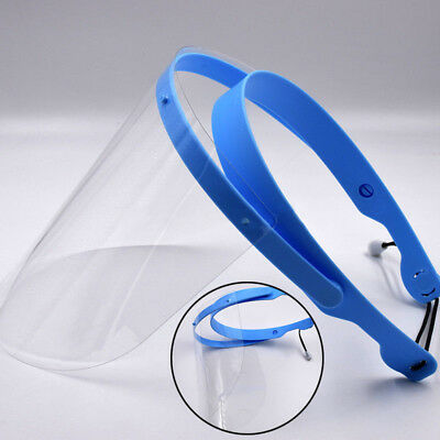 Dental Full Face Shield 1 Frame+ 10pcs Detachable Protective  Plastic Films Mask