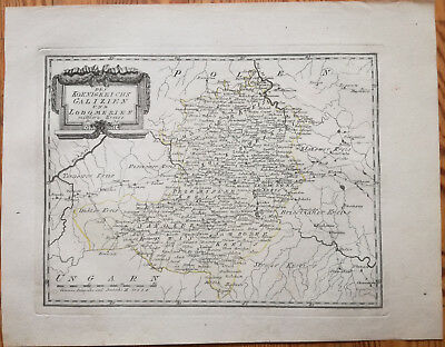 Reilly Original Engraved Folio Map Wolhynien Ukraine Central Part - 1789