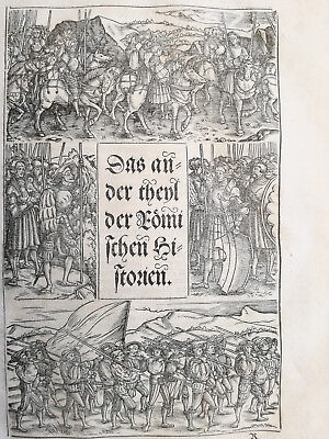 Livius History of Rome Post Incunable Woodcut Schoeffer Title Page - 1530