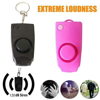 Anti-rape Device Alarm Loud Alert Attack Panic Keychain for Personal Security