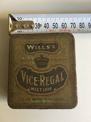 Wills's Vice Regal Tobacco Tin (VINTAGE WD & HO WILLS)