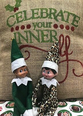 Plush Christmas GREEN MALE ELF - (Doll only)