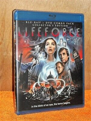 LIFEFORCE [1985] (BLU-RAY/DVD, 2013, 2-Disc) NEW sci-fi horror Peter Firth