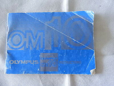 Olympus OM-10 Instructions booklet