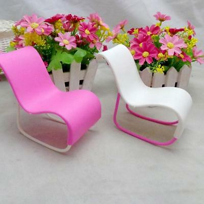 Dollhouse Miniature Furniture Rocking Chair for Barbie Pink Girls Toy suite TOP