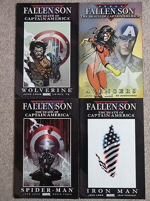FALLEN SON: THE DEATH OF CAPTAIN AMERICA - Issues 1 2 4 & 5 2007 (Near Mint)