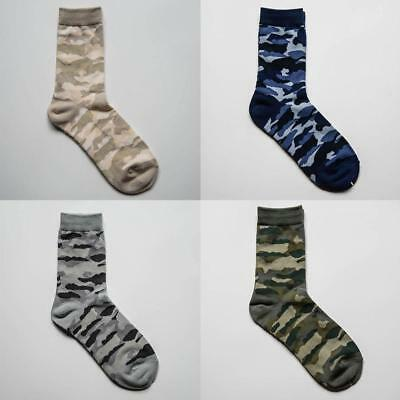 Army//Khaki//Military New Camouflage//Camo Mens Ralph lewis Cotton-Rich Socks 6-11