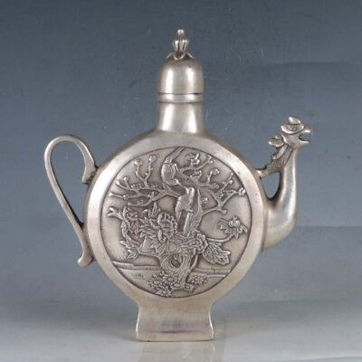 Chinese  Silvering Copper Mandarin Duck Teapots Made By The RoyalDaQing
