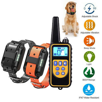 Dog Shock Collar w/ Remote Waterproof Electric For Large 875 Yard Pet Training