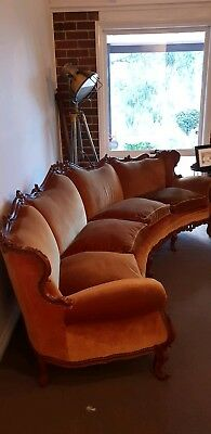 Gorgeous Antique Curved 4 seater Sofa Very Rare!