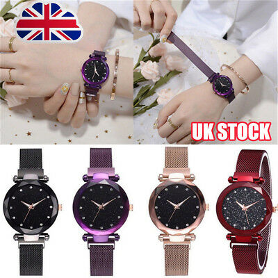 Elegant Women Ladies Crystal Starry Sky Watch Magnetic Strap Watches Gift New Y8