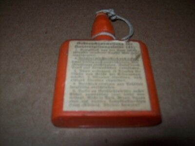 100% Original World War 2 German decontamination bottle W/Original Label