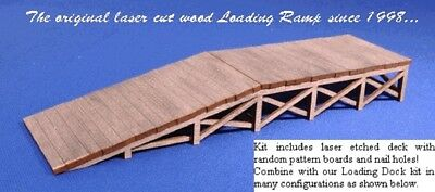 Blair Line 374 Wooden Loading Ramp Laderampe mit Auffahrt Z 1:220 Laser Cut