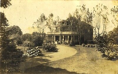 Real Photo Postcard, Home of Mrs. Lawton, Plainfield, Conn. CT