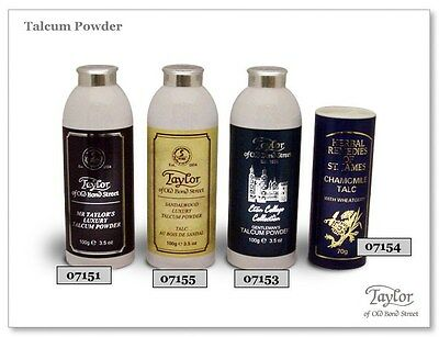 Taylors of Old Bond Street Talcum Powders Range