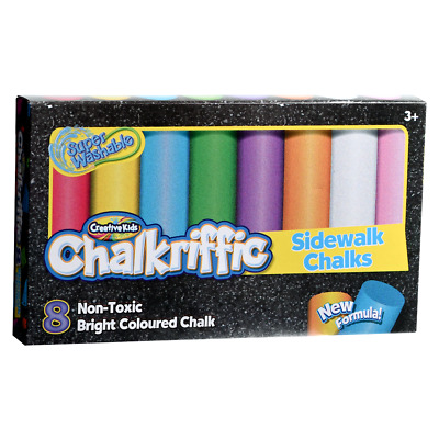 CreativeKids Chalkriffic 9 Coloured Chalk Sticks with Tote Bag Fun For Kids